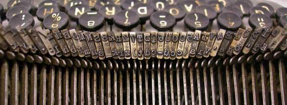 Oude typemachine van Boekenplan